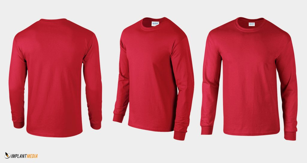 Long Sleeve T Shirt Printing Gildan 2400 Style