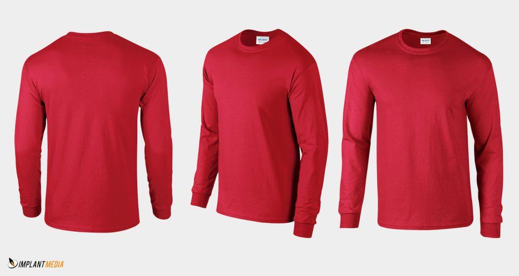 Long sleeve t shirt printing gildan 2400 style for Gildan t shirt printing