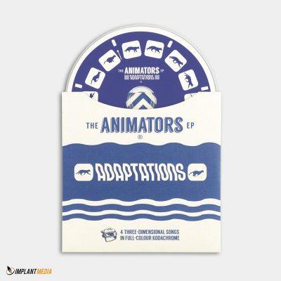 Replication / Card sleeve – custom die cut / Disc – 2 spot colours on a white base