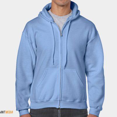 Zipped Hoodie Printing – Gildan 18600 style
