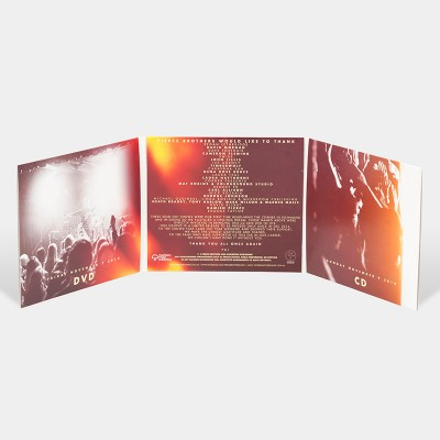 Replication / Offset gatefold with two open pockets / CD and DVD printed in full colour